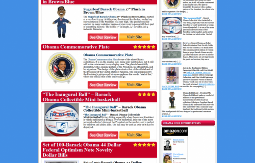 Obama Collectors Items
